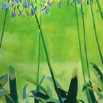 """Agapanthus""  acrylic on canvas 145Χ70"