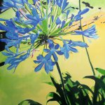 """Agapanthus""  acrylic on canvas 120Χ100"
